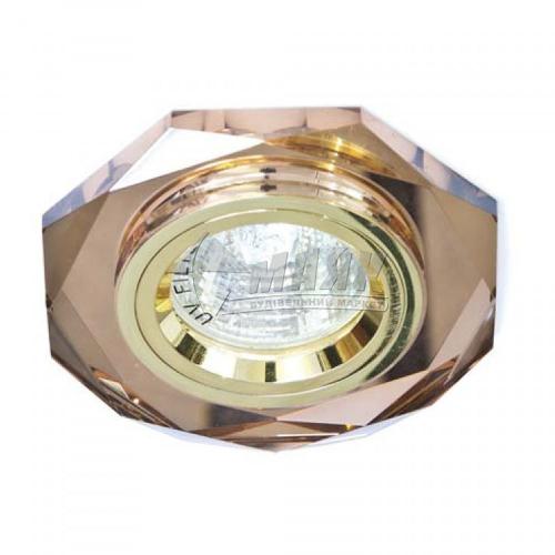 Світильник точковий вбудований Feron 8020-2 (CD3003) МR16 GU5.3/G5.3 коричневий-золото