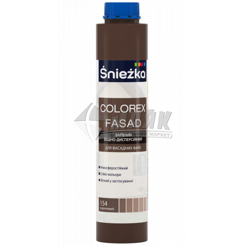 Барвник Sniezka Colorex Fasad 0,75 л 154 коричневий