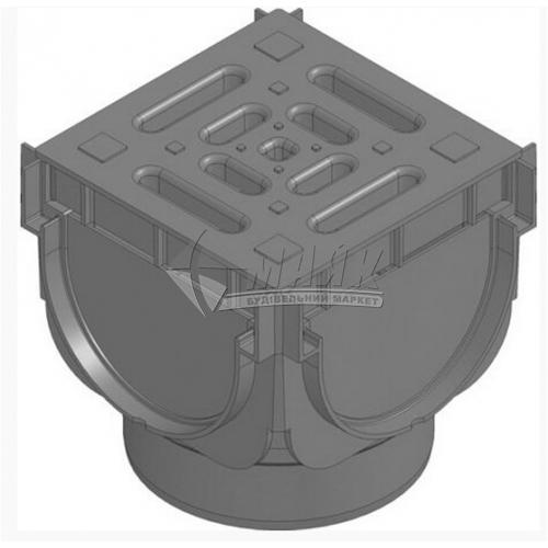 З'єднувач водовідвода кутовий Hauraton Top X 44360 з пластиковою решіткою