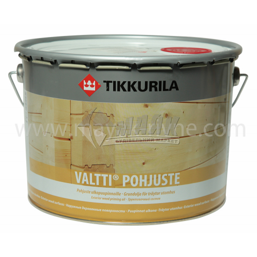 Ґрунтовка для деревини Tikkurila Valtti Primer для зовнішніх робіт 9 л
