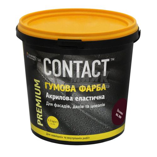 Фарба гумова CONTACT акрилова 1,2 кг RAL 3009 вишнева