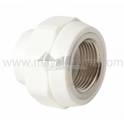 """З'єднувач поліпропіленовий VALTEC 20 мм х 3/4"""" внутрішня різьба білий"""
