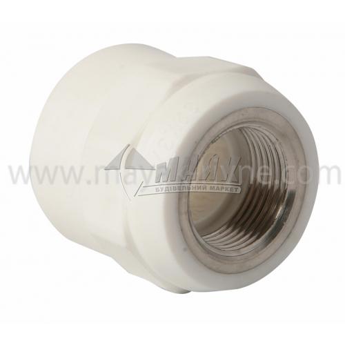 """З'єднувач поліпропіленовий VALTEC 32 мм х 3/4"""" внутрішня різьба білий"""