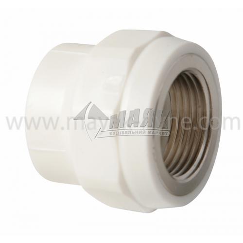 """З'єднувач поліпропіленовий VALTEC 32 мм х 1"""" внутрішня різьба білий"""