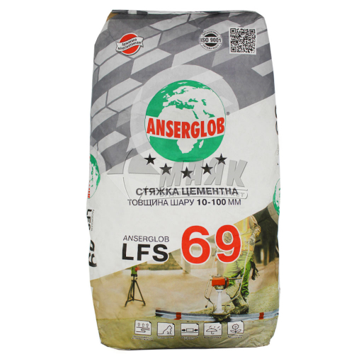 Суміш для стяжки Anserglob LFS 69 шар 10-100 мм 25 кг