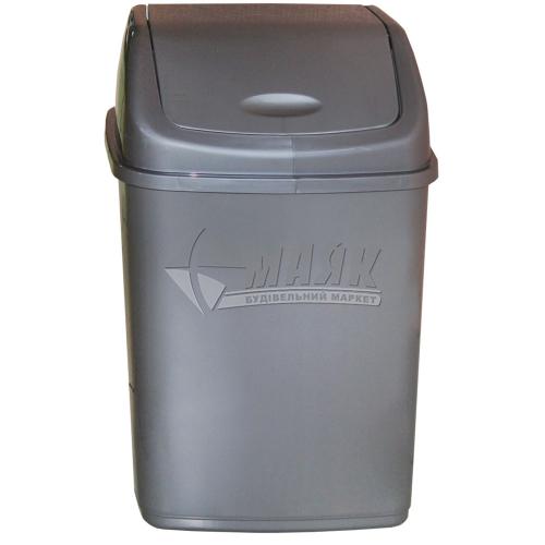 Відро для сміття Алеана 10 л сіре