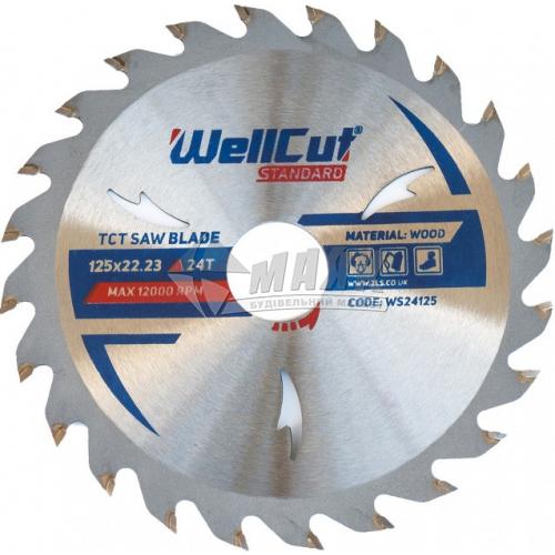 Диск пиляльний WellCut Standard 125×22,23 мм 24Т