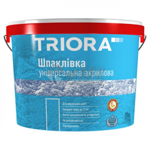 Шпаклівка акрилова TRIORA універсальна інтер'єрна 16 кг біла