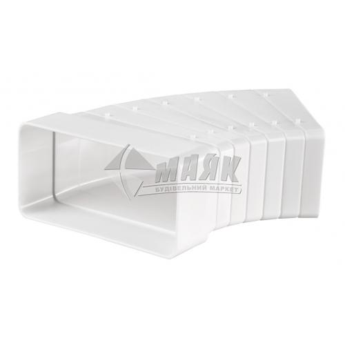 Коліно вентиляційне плоске горизонтальне регульоване VENTS 82810 204×60 мм