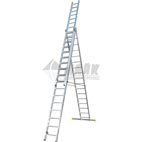 Драбина алюмінієва Elkop VНR РK 3×17 3 секції 17 сходинок