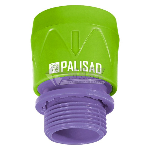 """З'єднувач для шланга пластиковий Palisad зовнішня різьба 3/4"""""""