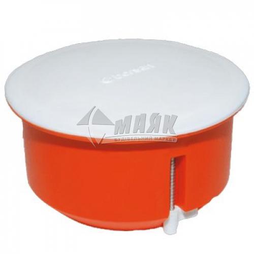 Коробка розподільча 80 мм для гіпсокартону з кришкою пластикові пелюстки