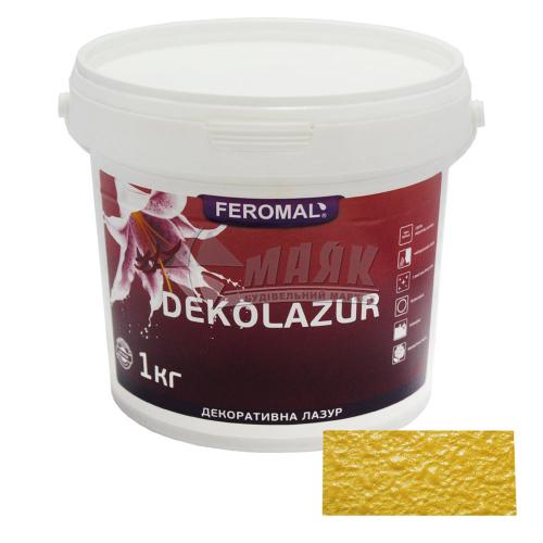 Лазур декоративна Feromal Dekolazur інтер'єрна 1 кг срібло