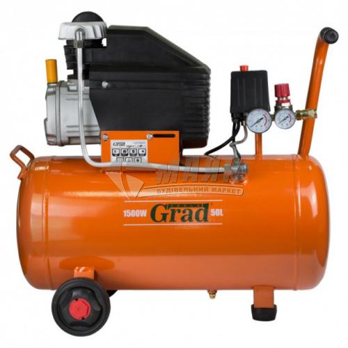 Компресор повітряний одноциліндровий Grad 1,5кВт 50 л 198 л/хв