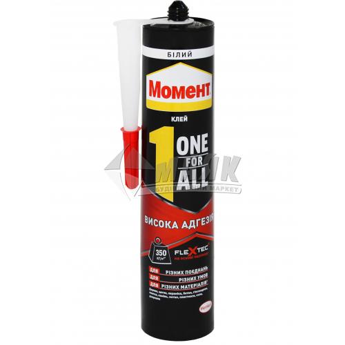 Клей-герметик полімерний Момент Flextec Moment One For All High Tack 440 г білий