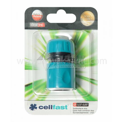 """Конектор пластиковий з аквастопом Cellfast 1/2"""""""