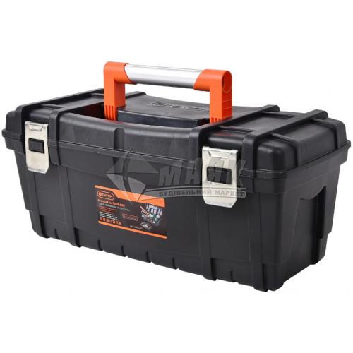 """Ящик для інструменту Tactix 24"""" 610×280×260 мм металеві замки пластиковий"""