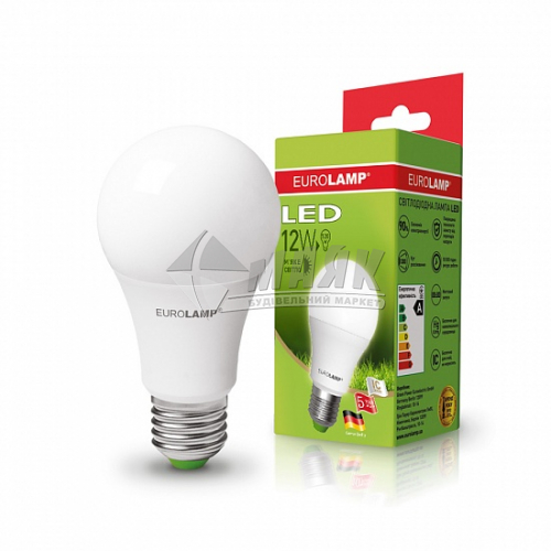 Лампа світлодіодна класична (груша) EUROLAMP 12Вт Е27 А60 3000°К (LED-А60-12273(D))