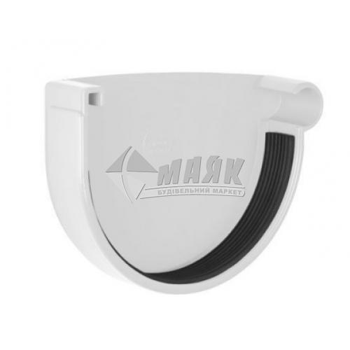 Заглушка ринви пластикова права NewWay 120 мм біла