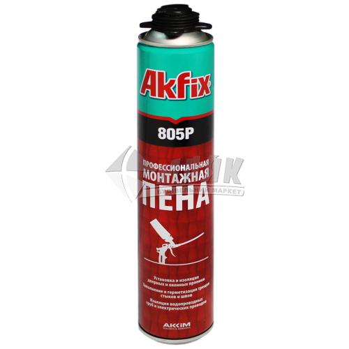 Піна монтажна професійна Akfix 805P 45 л зимова (всесезонна) 750 мл/850 г