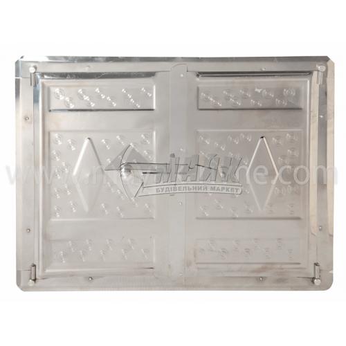 Дверцята для печі нержавіюча сталь 440×320 мм 3,8 кг