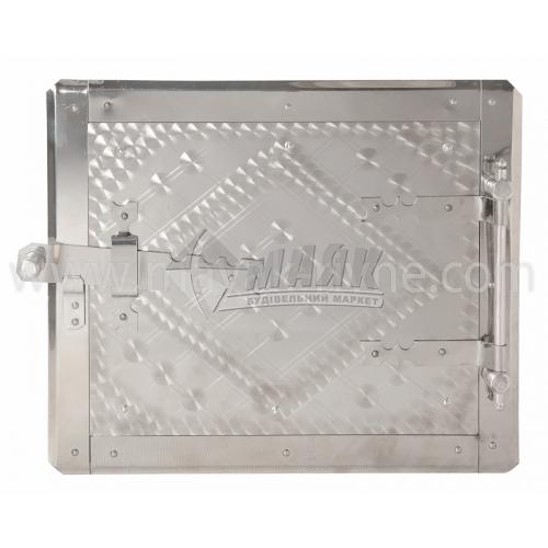 Дверцята для топки нержавіюча сталь з відбивачем 280×240 мм 3,29 кг