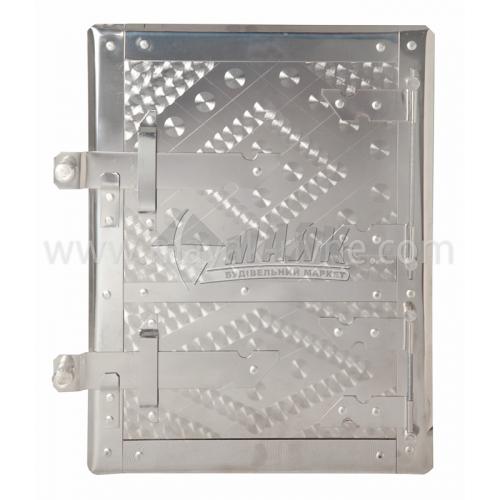 Дверцята спарені нержавіюча сталь з відбивачем 210×300 мм 3,17 кг