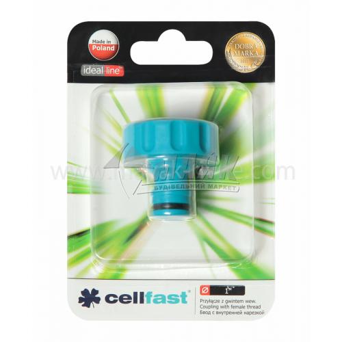 """Адаптер для крана пластиковий Cellfast із внутрішньою різьбою 1"""""""