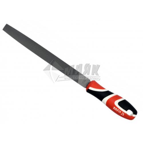 Напилок плоский YATO 200 мм з ручкою