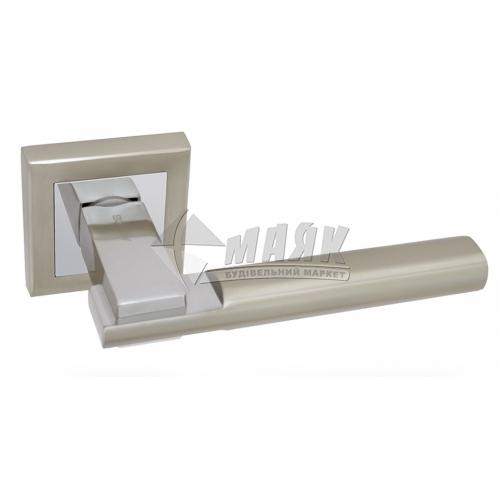 Ручки дверні на розетці Apecs Windrose Sirocco H-18100-A-NIS/CR сатин/хром