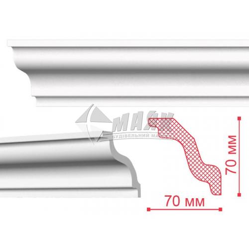 Плінтус стельовий декоративний NMC K Nomastyl 70×70×2000 мм