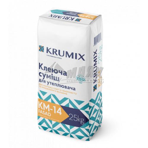 Клей монтажний для систем теплоізоляції KRUMIX KM-14 FASAD 25 кг