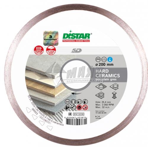 Диск алмазний відрізний DiStar 1A1R Hard Ceramics 200×1,6×10×25,4 мм суцільний