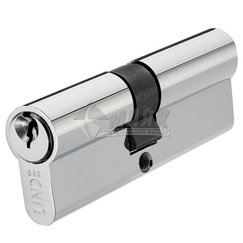 Циліндр ключ-ключ LINDE A5E35/35 СP хром полірований