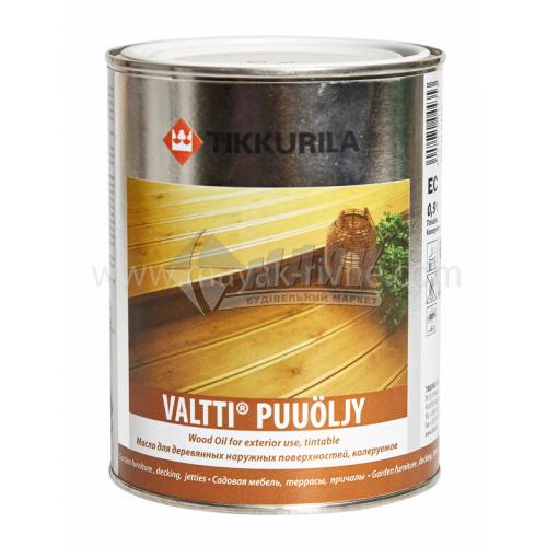 Олія для деревини Tikkurila Valtti Puuoljy для зовнішніх робіт 0,9 л безбарвна