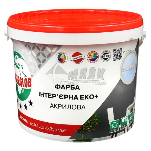 Фарба інтер'єрна Anserglob ЕКО+ акрилова 14 кг біла матова