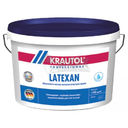 Фарба інтер'єрна KRAUTOL LateXan база 1 латексна 2,5 л біла шовковисто-матова