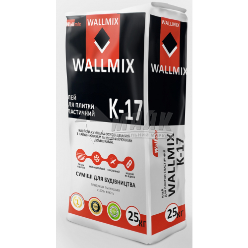 Клей для облицювальної плитки Wallmix K-17 25 кг