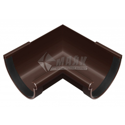 Кут ринви пластиковий внутрішній NewWay 90° 120 мм коричневий