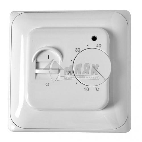 Терморегулятор для теплої підлоги Castle MRTC7026 кнопковий білий