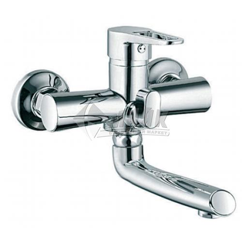 Змішувач для ванни ZERIX 1Р PUD3-А146 з душовим комплектом одноважільний настінний