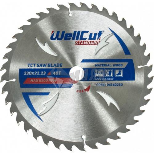 Диск пиляльний WellCut Standard 230×22,23 мм 40Т