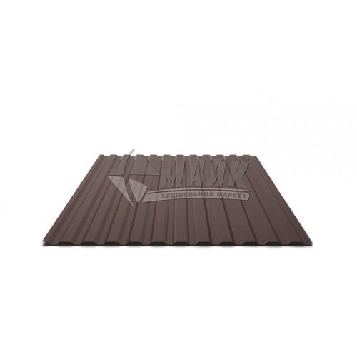 Лист профільний Т12 2500×1160×0,3 мм RAL 8017 коричневий