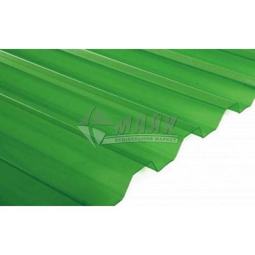 Лист ПВХ Salux WHR 1800×900×0,8 мм зелена прозора трапеція