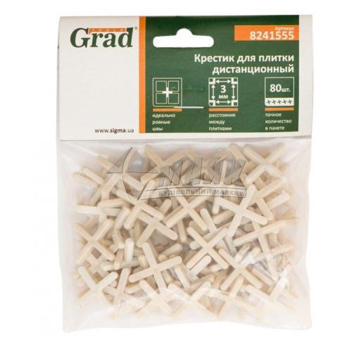 Хрестики дистанційні для плитки Grad 3,0 мм 80 шт