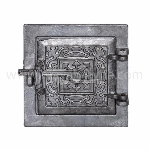 Дверцята прочисні алюмінієві з орнаментом 155×155 мм 0,43 кг