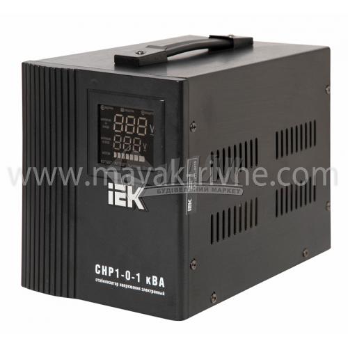 Стабілізатор напруги електронний IEK СНР1-0-1 переносний 1кВА