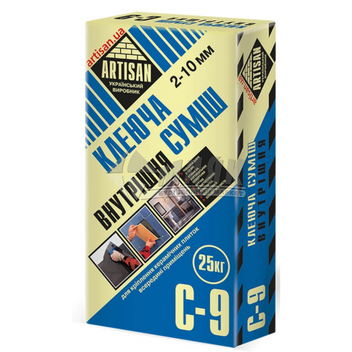 Клей для облицювальної плитки Artisan C-9 Внутрішня 25 кг