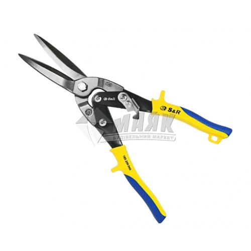 Ножиці по металу S&R 290 мм пряме різання Cr-V