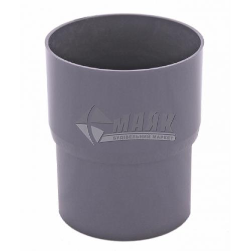 Муфта (з'єднувач) труби водозливної пластикова Profil 90 мм 90/75 графіт